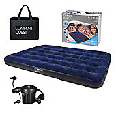 Comfort Quest Deluxe Double Airbed With Pump