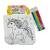 Animal Antics Colour Your own Tote Bag with Pens Unicorn