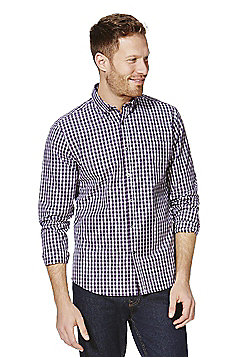 F&F Checked Contemporary Fit Shirt - Purple