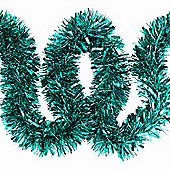 6m Turquoise Chunky Cut 10cm Christmas Tree Tinsel