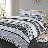 Duvet Cover Pillow Case Set, Geometric Lola - Black