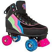 Rio Roller Classic II Passion Kids Quad Roller Skates - Black