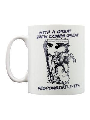 Marvel Comics Retro Great Responsibili-Tea White 10oz Ceramic Mug
