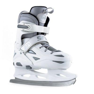 SFR Ice Skates - Eclipse White/Silver - Medium: Junior UK 12 - UK 2