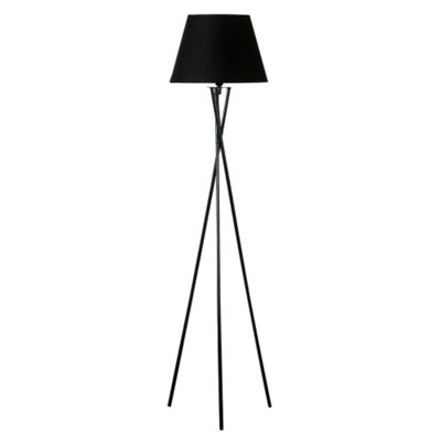 Camden Tripod Floor Lamp, Black