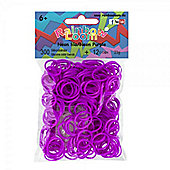 Rainbow Loom Neon Purple Bands - Arts and Crafts