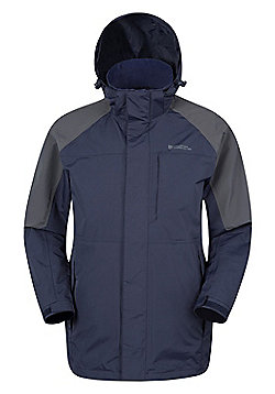 Mountain Warehouse Ridge Mens Long Waterproof Jacket - Blue