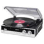 Groov-e Retro Vinyl Turntable with Built-in Speaker Black