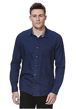 F&F Dobby Indigo Yarn Shirt - Navy