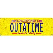 Outatime Slim Tin Sign 30.5x10.1cm