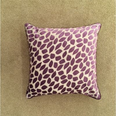 Mason Gray Abbot Purple Cushion Cover - 43x43cm