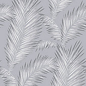 Precious Metals Ardita Leaves Wallpaper - Platinum - Arthouse 673003