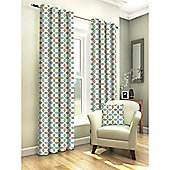 Tembury Duck Egg Eyelet Curtains - 90x72 Inches (229x183cm)
