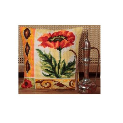 Collection D Art Valiant Poppy Cushion Kit