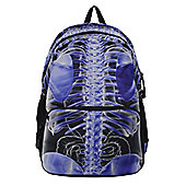 Banned Blue Ribcage X-Ray Black Backpack 30x40cm