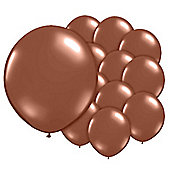Chestnut Brown 5 inch Latex Balloons - 100 Pack