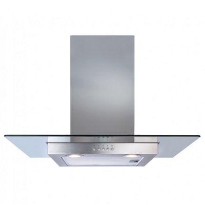 CDA ECN72SS 70cm Flat Glass Chimney Cooker Hood | Extractor Fan in Stainless Steel