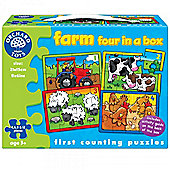 Orchard Toys Four in a Box Jigsaw Puzzles Farm