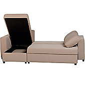 ValuFurniture Dora Fabric Corner Sofa Bed - Light Brown