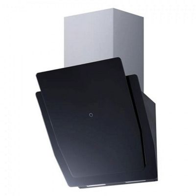 Montpellier DCH3260BG Slanted Cooker Hood | 60cm Black Designer Extractor Fan