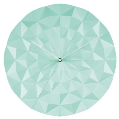 Buy Karlsson Facet Wall Clock Mint Green from our Clocks range