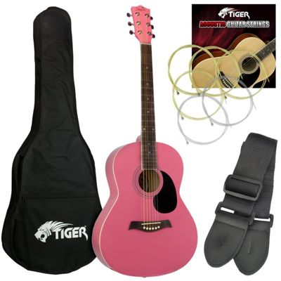Jasmin Acoustic Guitar for Beginners - Pink