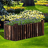 Outsunny Flower Wooden Planter Container Box w/ 4 Feet (78L x 35W x 30H (cm))
