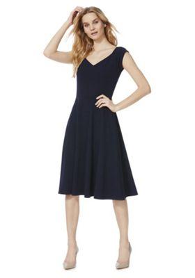 Izabel London Bardot Dress Navy 8