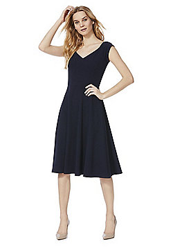 Izabel London Bardot Dress - Navy