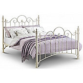 High End Metal Bed Frame - King Size 5ft - Stone White Eggshell Textured Finish