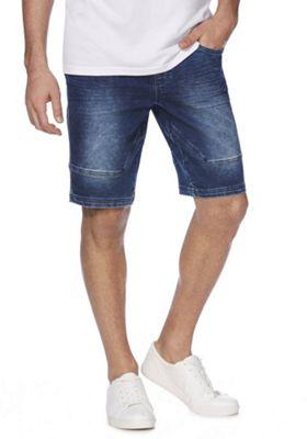 F&F Denim Sweat Shorts Dark Wash 44 Waist