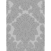 Vicenza Damask Wallpaper - Grey - Arthouse 270401