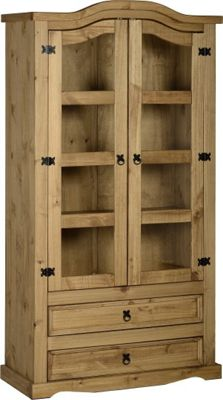 Home Essence Corona 2 Door Glass Display Unit
