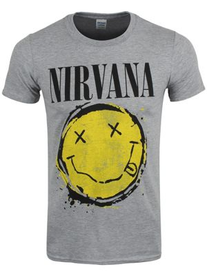 Nirvana Smiley Splat Grey Men's T-shirt
