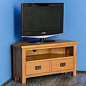 Surrey Oak Corner TV Stand - Rustic Oak