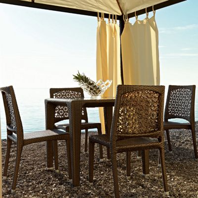 Varaschin Altea Square Dining Table by Varaschin R and D - Bronze