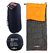 Milestone Envelope Single Sleeping Bag Black/Orange 180 x 75cm