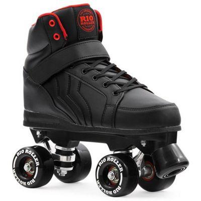 Rio Roller Kicks Quad Roller Skates - Black UK 3