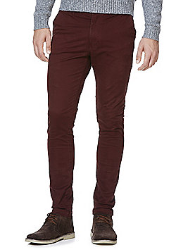 Jack & Jones Marco Slim Fit Chinos - Burgundy