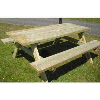 Swedish Redwood Picnic Table