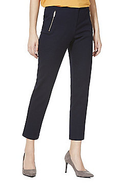 F&F Slim Fit Ankle Grazer Trousers - Blue