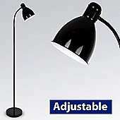 Adjustable Floor Standing Lamp, Gloss Black