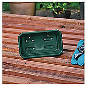 Garland Greenhouse Mini Seed Tray - Green - 17 x 10 x 5cm