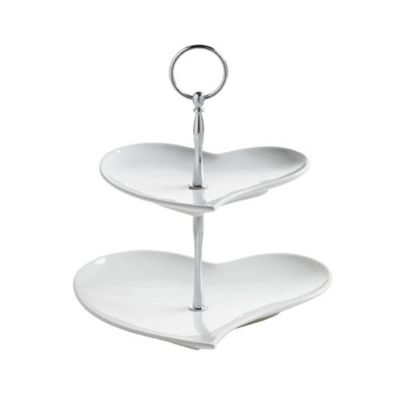 Maxwell & Williams Amore Heart Shape 2 Tier Stand JX57915
