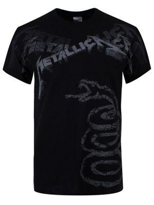 Metallica Album Faded Men's T-shirt, Black.
