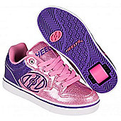Heelys Motion Plus Purple/Pink Glitter Heely Shoe - Purple