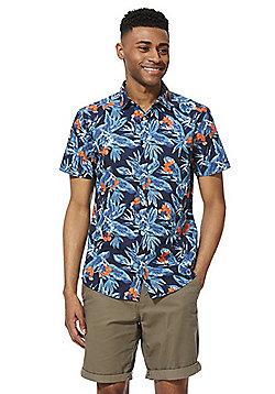 F&F Floral Print Short Sleeve Shirt - Navy/Multi