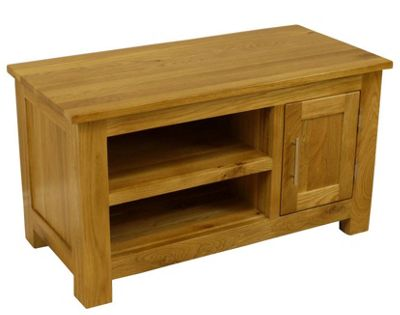Oakland Chunky Small Oak TV Stand / Oak TV Unit