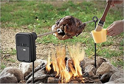 Grizzly Spit Camp Fire or Fire Pit BBQ Rotisserie