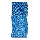"""Boulder Tile 20 Thou Oval Pool Liner- 33ft x 18ft x 48-52"""""""
